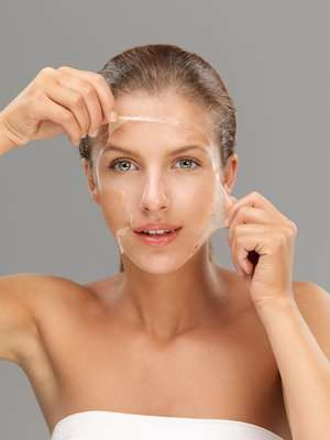 Homemade facial chemical peel