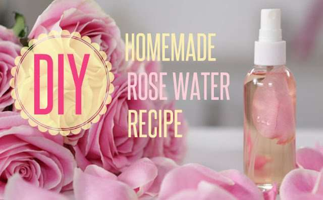 Rosewater spray for face