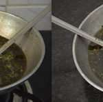 Homemade herbal oil using curry leaves, gooseberry, fenugreek seeds