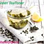 Homemade Green Tea Toner For Oily Skin