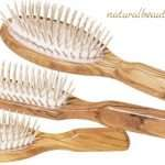 wooden hair brush with wooden bristles