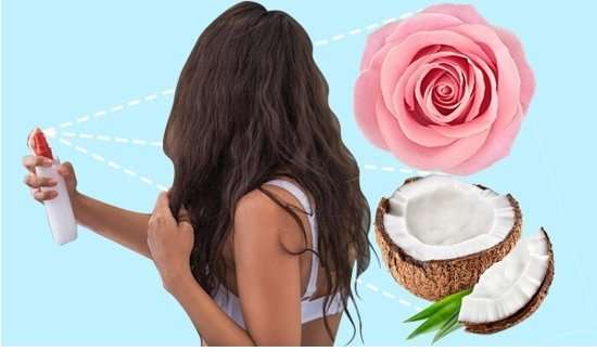 Coconut Oil & Rose Water Hair Mist For Smooth, Soft Hair