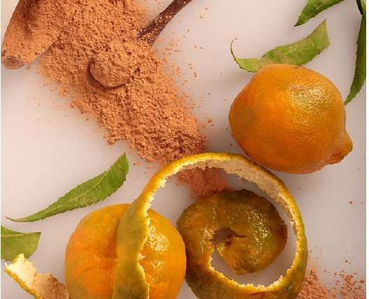 DIY Orange Peel Powder Face Packs